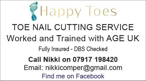 Toe Nails trimmed by Happy Toes
